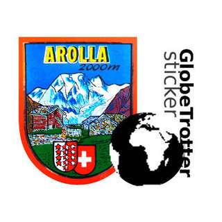 Sticker Globetrotter Arolla